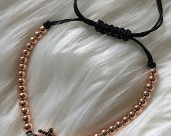 Rose Gold adjustable bracelet (Hand of Fatima)