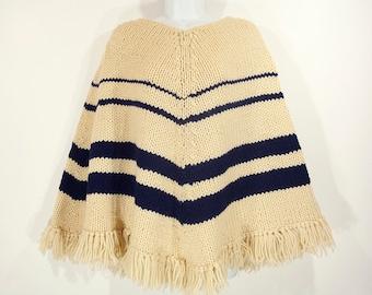 Vintage 70's Knit Poncho