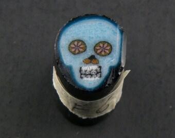Bleu Skull par Greg Chase Murrine Boro canne 6 grammes - 144 F