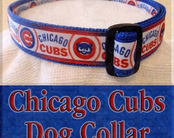 Designer Chicago Cubs Baseball MLB Novelty Dog Collar