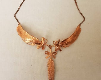 Genuine copper-plated necklace