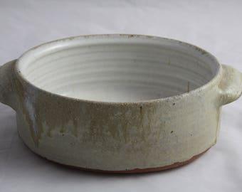 Handmade stoneware baking dish