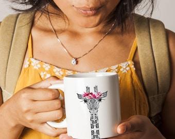 Giraffe Mug / Giraffe Gift / Giraffe Lovers Gift / Animal Gift / Animal Cup /