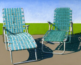 Summer Loungers - limited edition giclee print 38/100