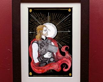 Thor Sun Tarot Archival Art Print