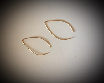Gold Filled or Silver Marquis Earrings