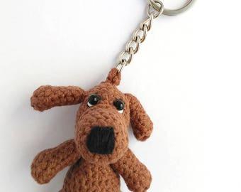 Amigurumi dog Toy Crochet keychain Crochet puppy Dog Mini dog Keyring Crochet dog toy Stuffed animal dog