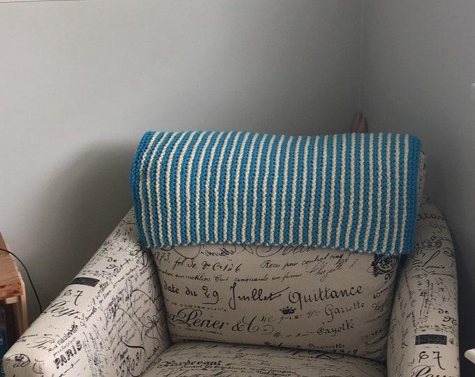 Knit cat blanket / cat blanket / cat bedding / cat bed / knit blanket / cat gift / gift for cat / handmade cat gift / ready to ship / boho