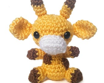 Genius Giraffe Amigurumi Crochet Plush Animal
