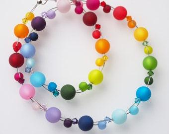 rainbow necklace polaris colorful necklace