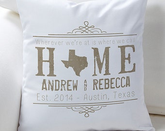 State Of Love Personalized Keepsake Pillow