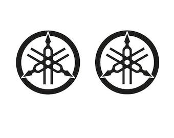 2 Kit YAMAHA 50 Mm 50xmm TUNING FORK Logo Decals Stickers Aufkleber Pegatinas V Rossi MotoGP SBK