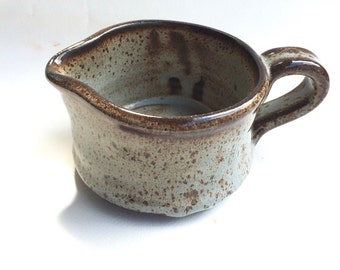 HANDMADE pitcher-shine blue-pottery-ceramic- ready to ship- make a great wedding gift P1