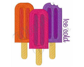 Ice Cold Popsicle   - Machine Embroidery Design