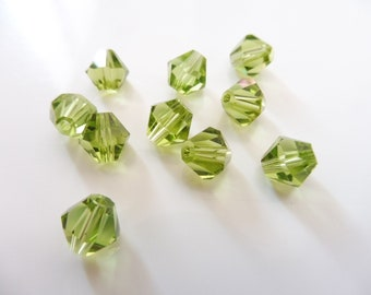 """10 glass beads 8 mm """"olive green"""""""