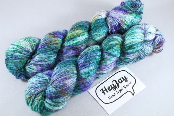 Hand Dyed Sock Yarn Merino, Alpaca, Nylon Blend - Spectacle