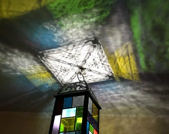 Stained glass lantern