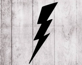 Lightning Bolt vinyl decal  for cars, walls, yeti, tumblers, cups, laptops car windows laptops vinyl decals Stickers walls cars  v44