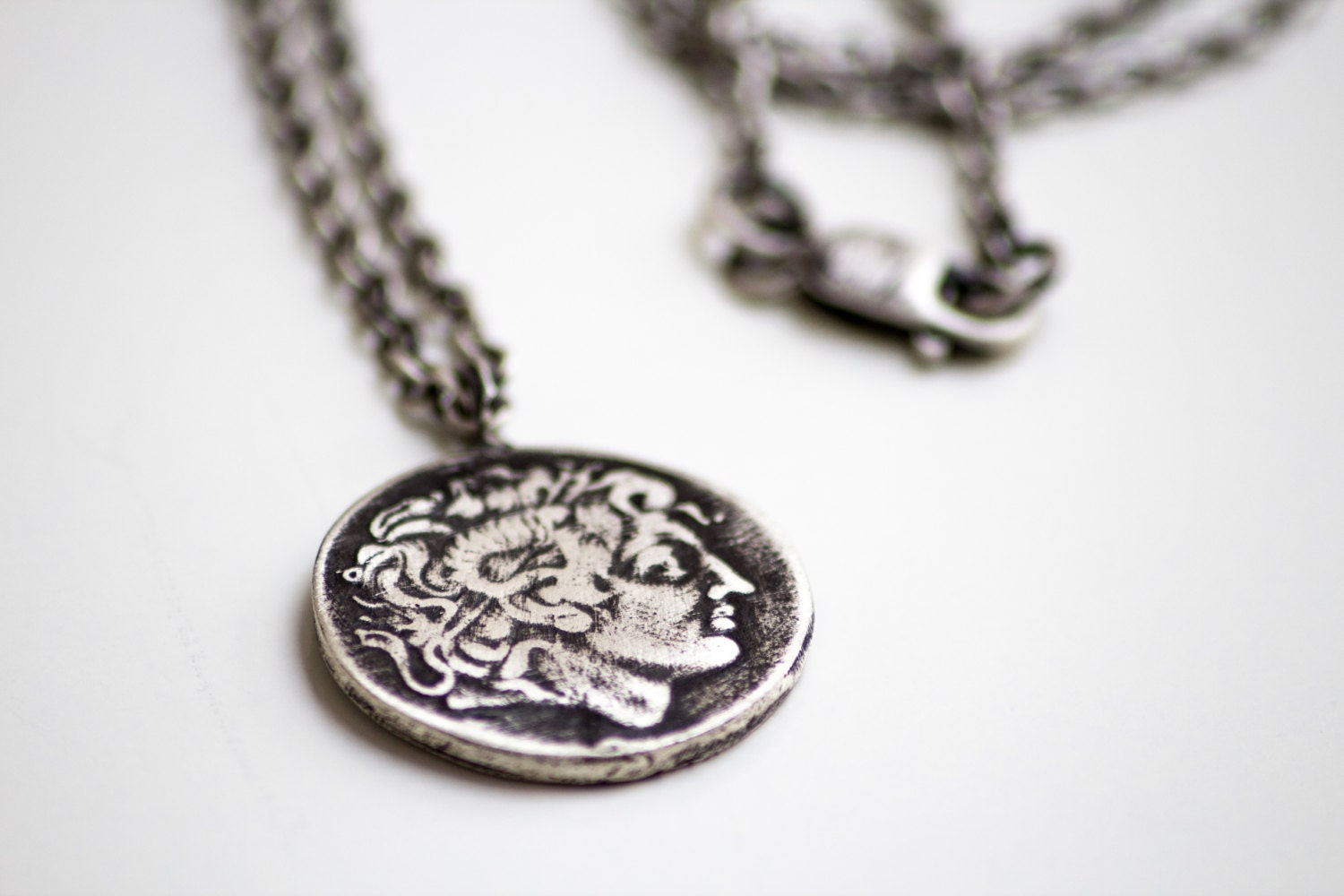 Alexander the great coin pendant mens pendant ancient zoom audiocablefo