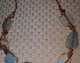 Rustic light blue semi-precious gemstone