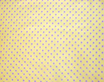 SALE - Fabric - Sevenberry- lemon polka dot cotton print.