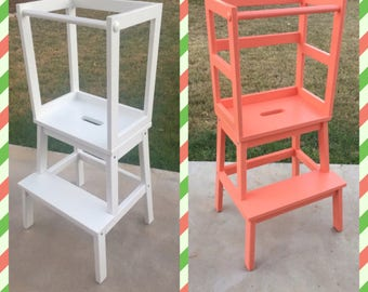 Montessori Kitchen Helper / Toddler Tower Step Stool / Learning tower