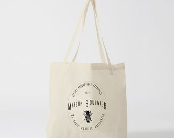 Tote Bag home Boulmier, bag in canvas cotton bag, diaper bag, handbag, tote bag, shopping bag, bag, courses, shopping bag