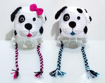 Crochet Boy or Girl Dalmation Hat