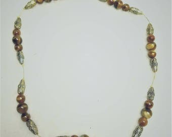 Amber Copper Necklace 18 inch