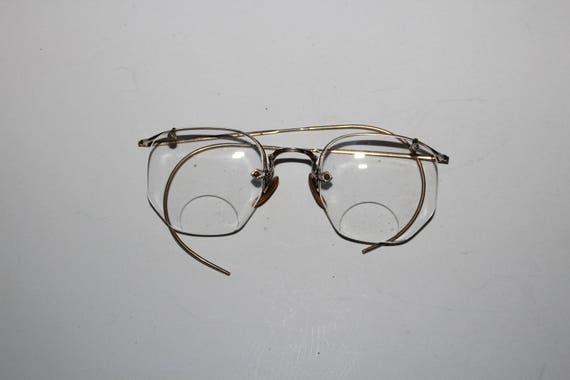 65e1a9a8bf9 Antique Eyeglasses 12k Gold Filled Frames Shuron