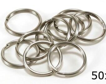 Stainless Steel SS304 Key Rings Split Ring, Lot of 50