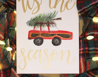 Tis The Season Canvas | Christmas Canvas | Christmas Decor | Christmas Decoration | Holiday Sign | Holiday Decor | Holiday Canvas | Holidays