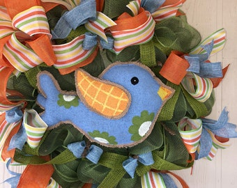 Blue Bird of Happiness, blue bird, spring, summer, gift housewarming, country,