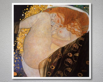Danae by  Gustav Klimt - Poster Paper, Sticker or Canvas Print / Gift Idea