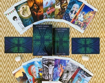 SALE 78 Tarot Carnival Deck - 78 Artists - 1 Epic Deck - Limited Edition - Indie Tarot Deck - Circus - Divination - 78Tarot