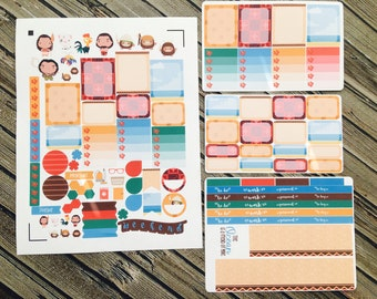 Polynesia Princess Weekly Planner Stickers Set, Full Kit Planner, Hawaii Stickers, for use with Erin Condren Life Planner, Happy Planner