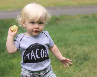 Taco Baby One Piece babies clothes girl boy bodysuit new dad funny gift mom shower birthday onesie tuesday 3-6 6-12 months infant newborn