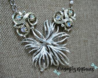 Vintage Statement Necklace,Vintage Brooch,Vintage Earrings,Repurposed,Upcycled,Reclaimed,Vintage Assemblage,Recycled /N105