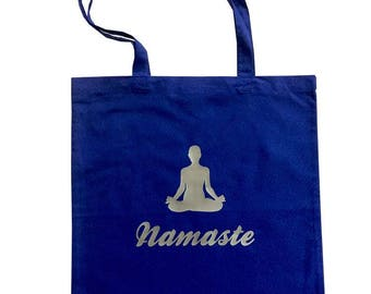 Yoga tote bag Namasté with long handles, cotton bag, tote bag, yoga bag, yoga mat bag, printed bag, printed tote, tote