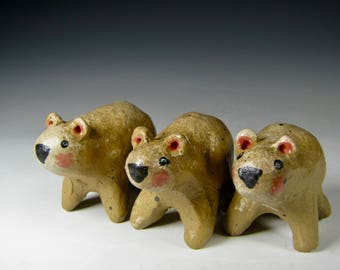 sculpture bears mini sculpture ceramic