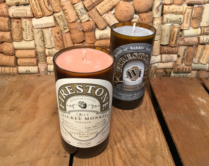 Firestone beer bottle, Soy Scented Candle, two available
