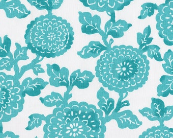 Coastal Blue Mums Fabric - By The Yard - Girl / Floral