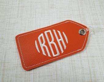 monogram luggage tag