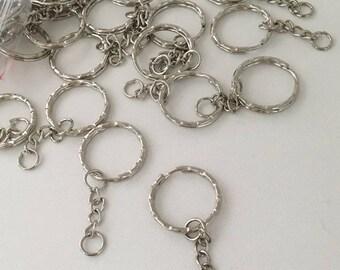 Set of 10 key chain rings
