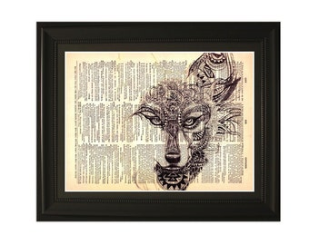 """Charm"""".Dictionary Art Print. Vintage Upcycled Antique Book Page. Fits 8""""x10"""" frame"""