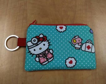 Keychain Coin Pouch - Doctor Hello Kitty