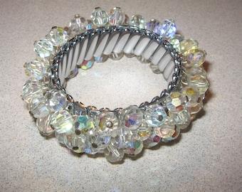 Crystal Band Bracelet Vintage Costume Jewelry #5458