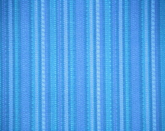 Retro Wallpaper by the Yard 70s Vintage Wallpaper - 1970s Blue Stripes