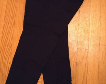 Vintage 60s stirrup stretch ski pants made Switzerland black xs