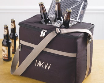 Soft-Sided Beverage Cooler with Shoulder Strap (e118-1162) - Free Personalization